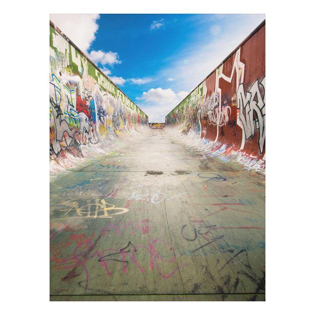 Alu-Dibond Bild - Skate Graffiti