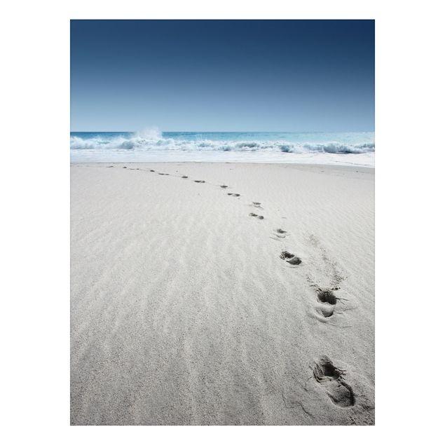 Alu-Dibond Bild - Spuren im Sand