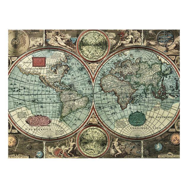 Alu-Dibond Bild - Die alte Welt