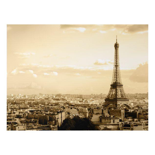 Alu-Dibond Bild - I Love Paris