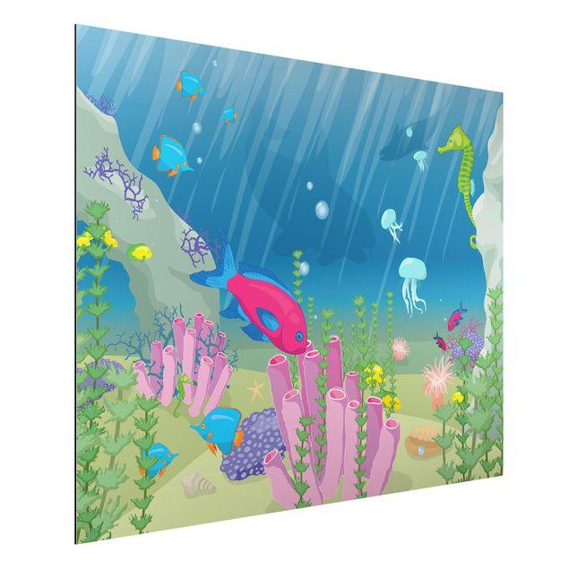 Alu-Dibond Bild - Unterwasserwelt