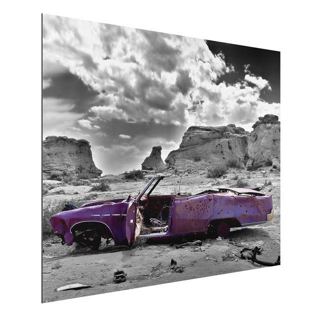 Alu-Dibond Bild - Pink Cadillac