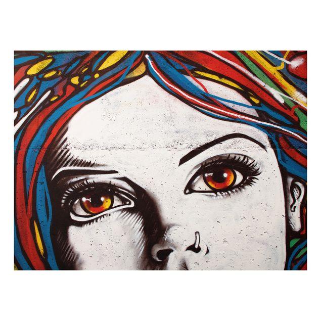 Alu-Dibond Bild - Punk Graffiti