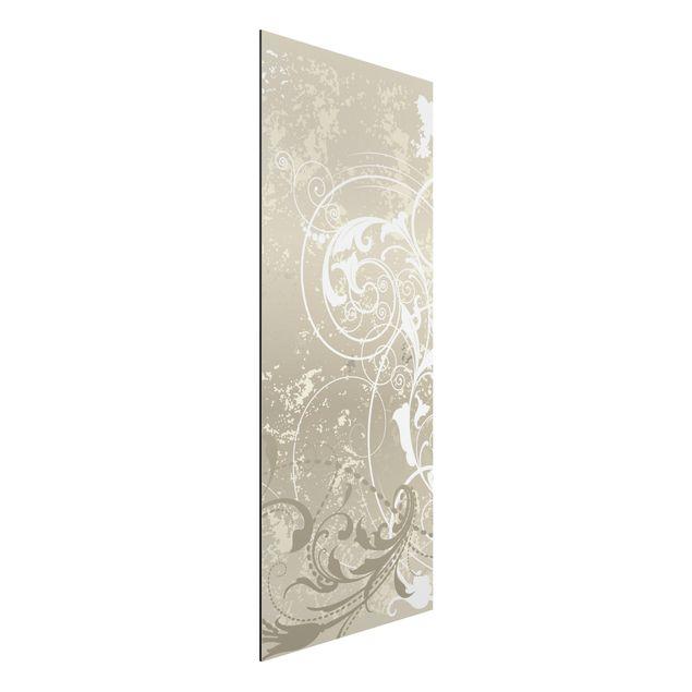 Alu-Dibond Bild - Perlmutt Ornament Design