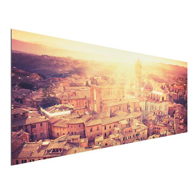 Alu-Dibond Bild - Fiery Siena