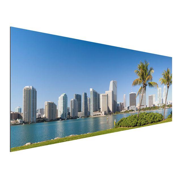 Alu-Dibond Bild - Miami Beach Skyline