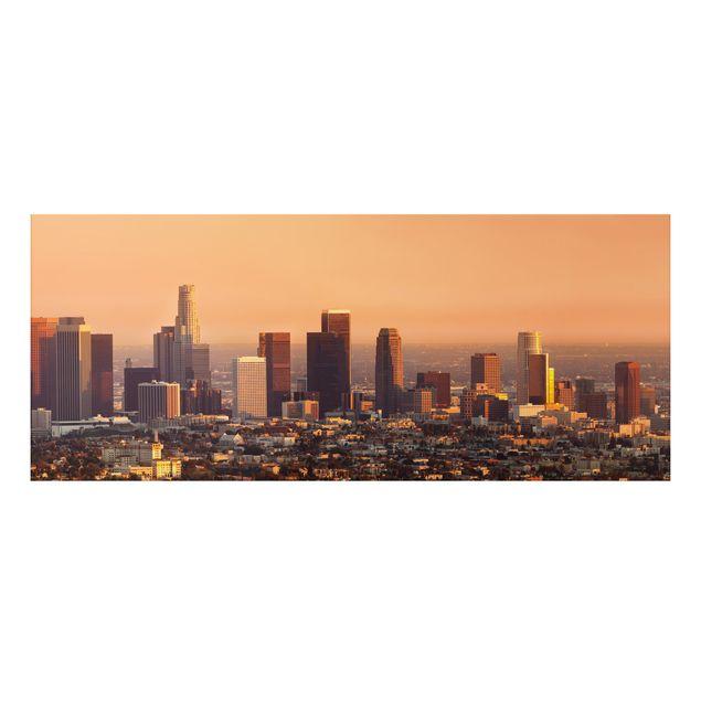 Alu-Dibond Bild - Skyline of Los Angeles