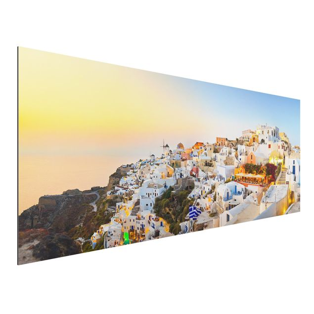 Alu-Dibond Bild - Strahlendes Santorin