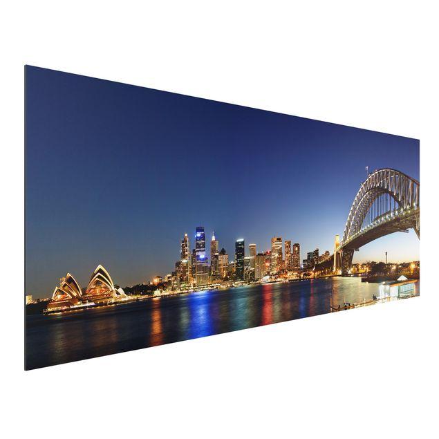 Alu-Dibond Bild - Sydney at Night