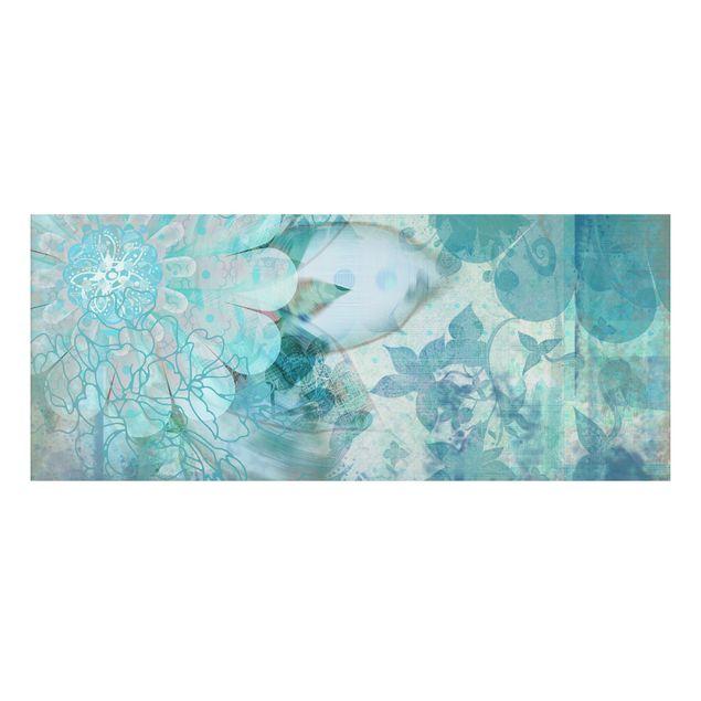 Alu-Dibond Bild - Winterblumen