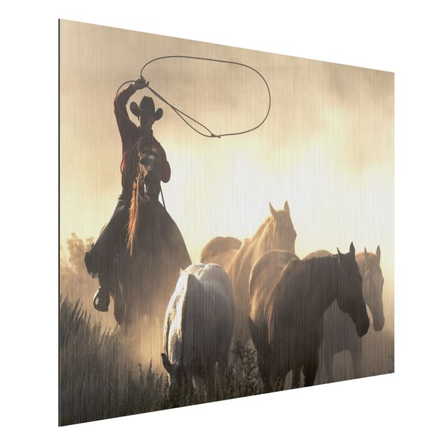 Alu-Dibond Bild - Cowboys