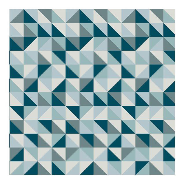 Fototapete Blaues Dreieck Muster