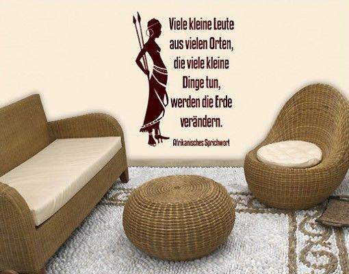 Wandtattoo Zitate - Wandzitate No.BR214 Afrika Spruch