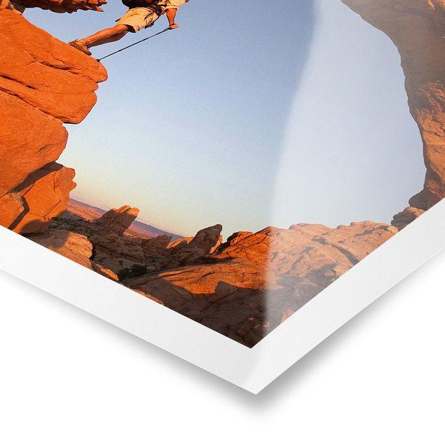 Poster - Wanderung durch den Canyon - Quadrat 1:1