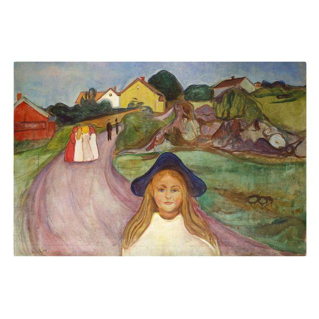 Leinwandbild - Edvard Munch - Weiße Nacht - Querformat 2:3