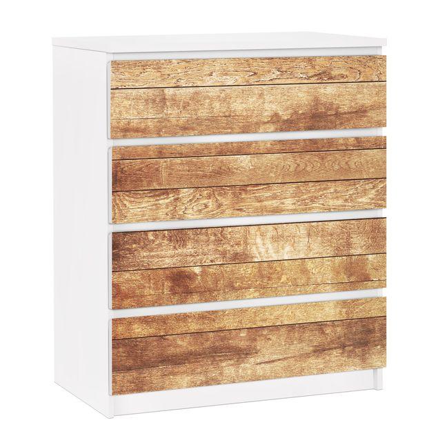 Möbelfolie für IKEA Malm Kommode - selbstklebende Folie Nordic Woodwall