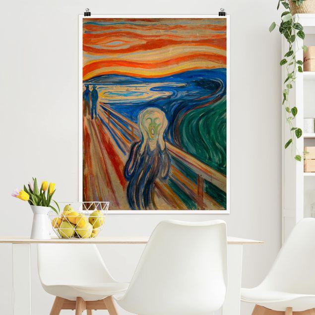 Poster - Edvard Munch - Der Schrei - Hochformat 3:4