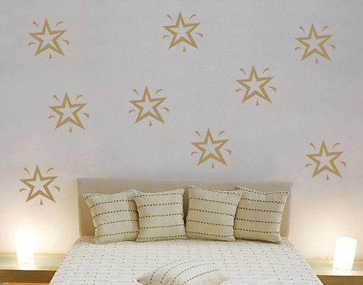 Wandtattoo Kinderzimmer No.SF117 Neun Sterne