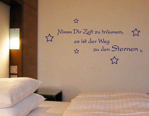 Wandtattoo Sprüche - Wandsprüche No.NH46 Zeit zum Träumen