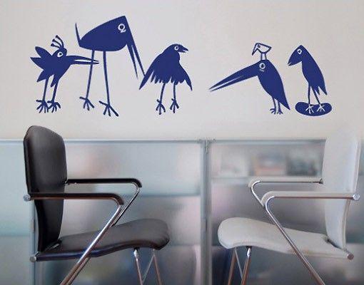 Wandtattoo Kinderzimmer Vögel No.SF126 Funny Birds