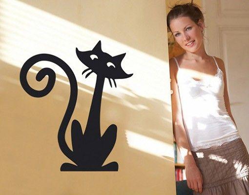 Wandtattoo Katze No.SF163 funny cat