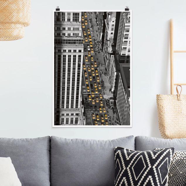 Poster - Taxiverkehr in Manhattan - Hochformat 3:2
