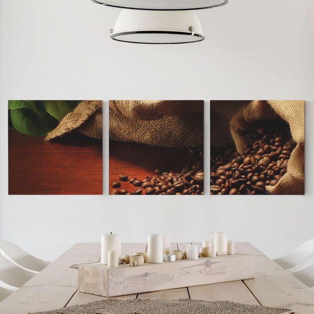 Leinwandbild 3-teilig - Dulcet Coffee - Quadrate 1:1