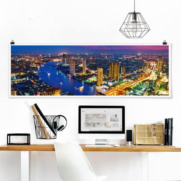 Poster - Bangkok Skyline - Panorama Querformat