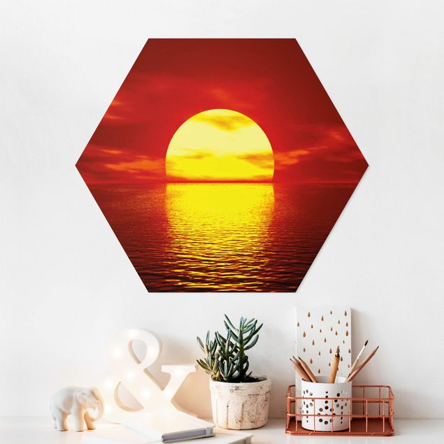 Hexagon Bild Forex - Fantastic Sunset