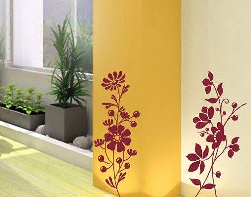 Wandtattoo Ranke No.130 Blumen Duo