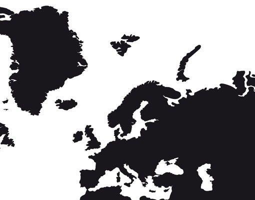 Wandtattoo No.191 Weltkarte