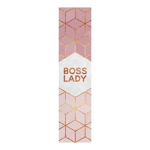 Schiebegardinen Set - Elisabeth Fredriksson - Boss Lady Sechsecke Rosa - 6 Flächenvorhänge