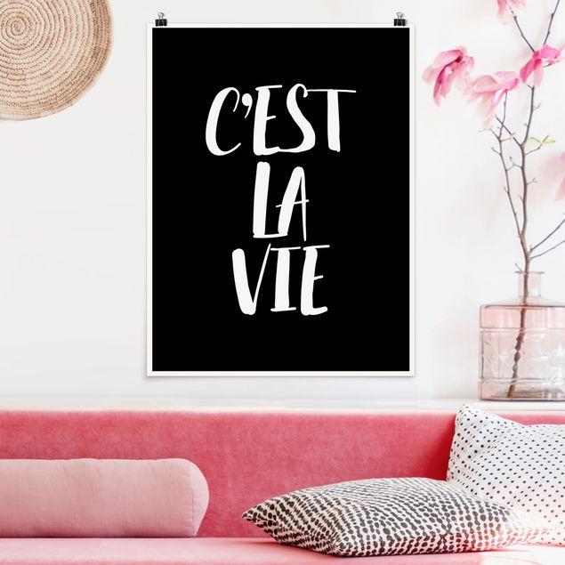 Poster - C'EST LA VIE - Hochformat 3:4