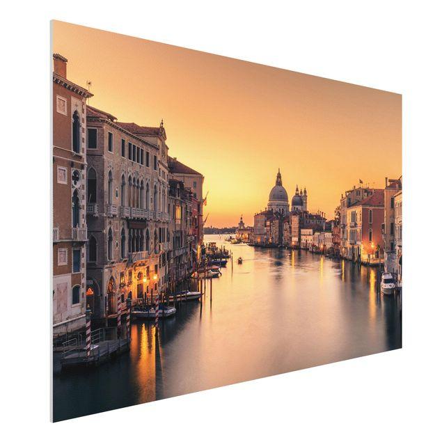Forex Fine Art Print - Goldenes Venedig - Querformat 2:3