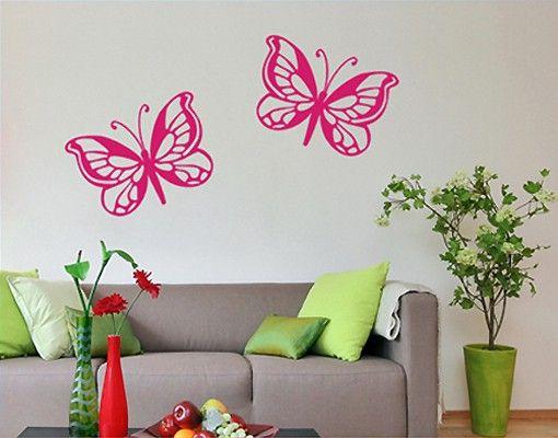 Wandtattoo Schmetterling No.SF418 Schmetterlingsduo