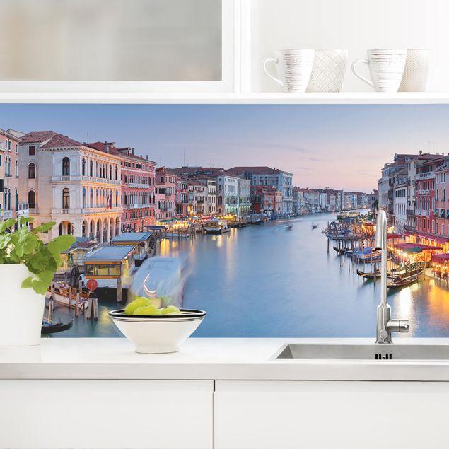 Küchenrückwand - Abendstimmung auf Canal Grande in Venedig