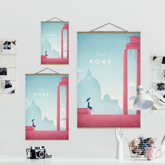 Stoffbild mit Posterleisten - Reiseposter - Rom - Hochformat 2:3