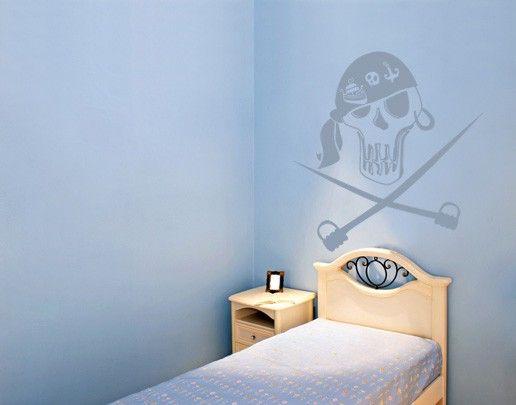 Wandtattoo Kinderzimmer No.UL226 Totenkopf 1