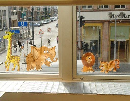 Fensterfolie - Fenstersticker No.68 Safari Set - Fensterbilder