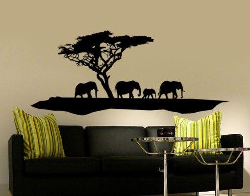 Wandtattoo Elefant No.TM6 Elefanten Spaziergang