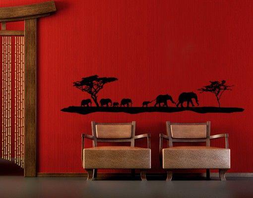 Wandtattoo Elefant No.TM11 Elefanten Family