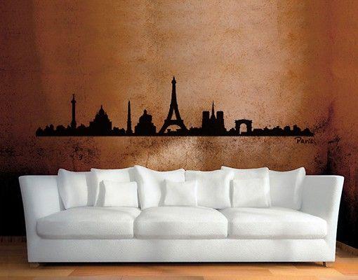 Wandtattoo Skyline No.SF472 Paris Skyline