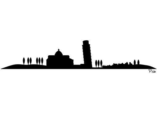 Wandtattoo Skyline No.SF473 Pisa Skyline