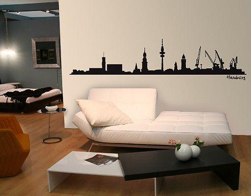 Wandtattoo Skyline No.SF475 Hamburg Skyline