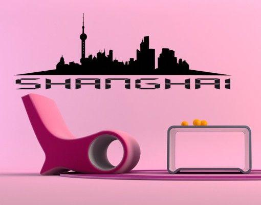 Wandtattoo Sprüche - Wandworte No.KP23 Shanghai Skyline