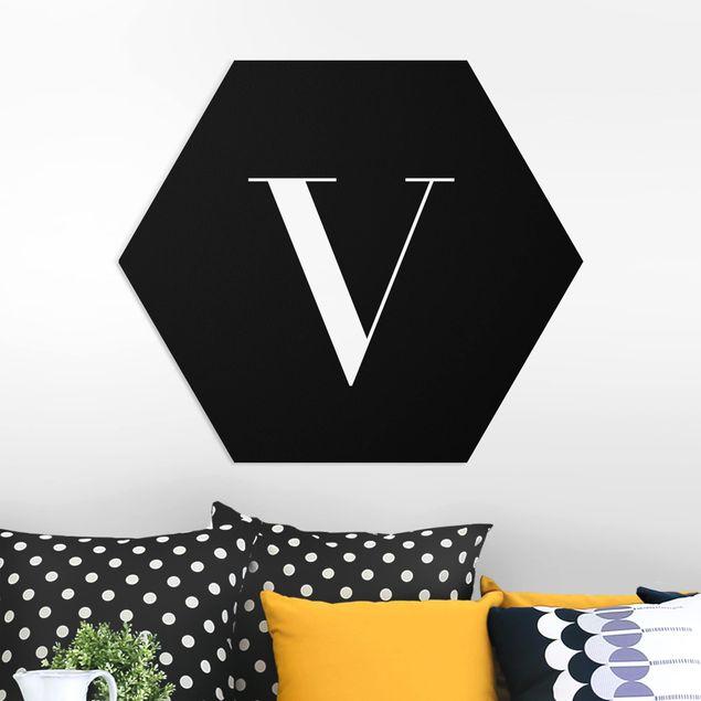 Hexagon Bild Forex - Buchstabe Serif Schwarz V