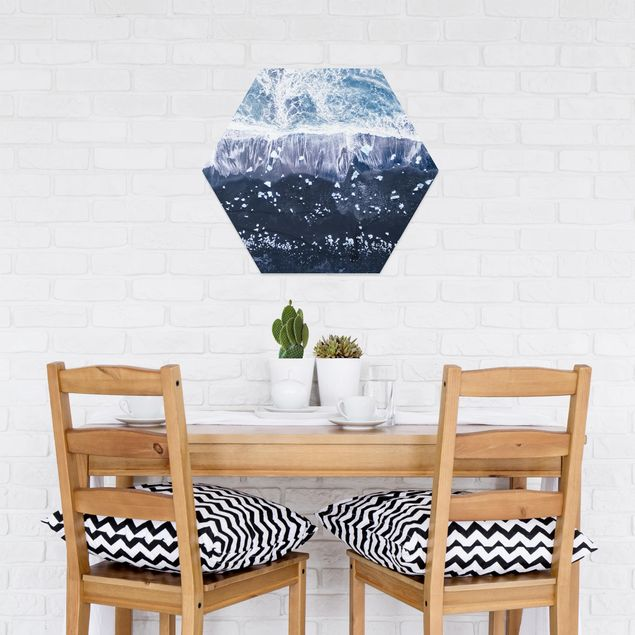 Hexagon Bild Forex - Luftbild - Jökulsárlón in Island