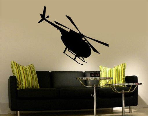 Wandtattoo No.KP50 Helikopter