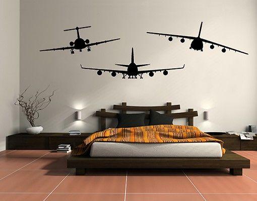 Wandtattoo No.SF528 BFA Aircraft Set