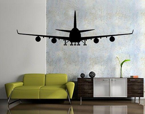 Wandtattoo No.SF523 Boeing 747